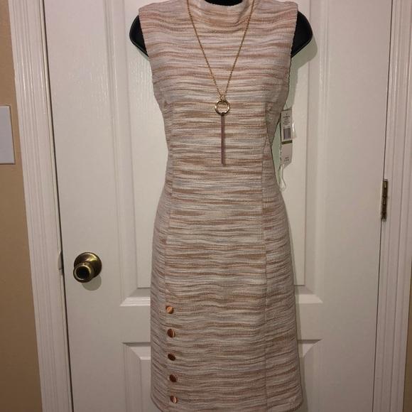 Sharagano Dresses & Skirts - Sharagano bisque/ ivory dress